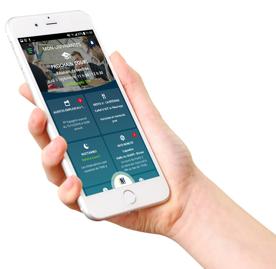 L'appli mobile UnivNantes